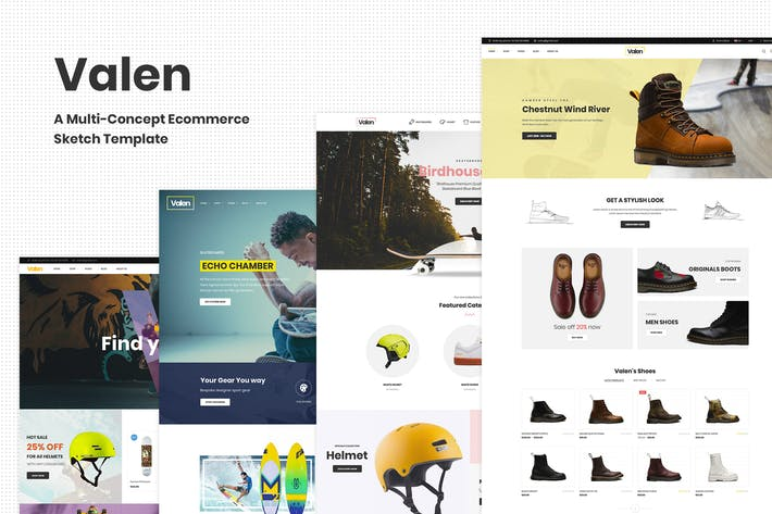 Thumbnail for Valen - A Multi-Concept Ecommerce Sketch Template