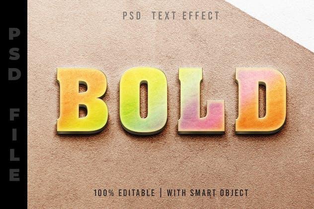 Rainbow 3D - Text Effect