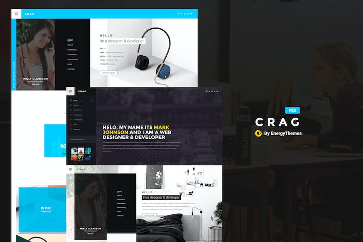 Cover Image For Crag - Creative Resume CV PSD Template