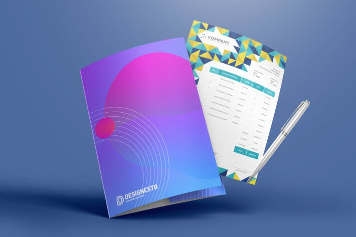 Thumbnail for Prism Invoice – Invoice Template