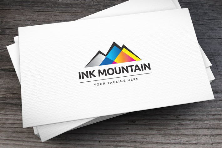 Cover Image For Ink Mountain Logo Template