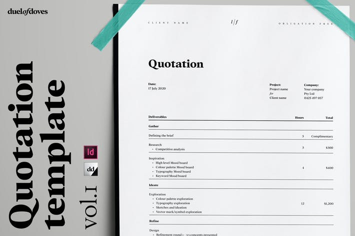 Thumbnail for Quotation template ~ vol. 1
