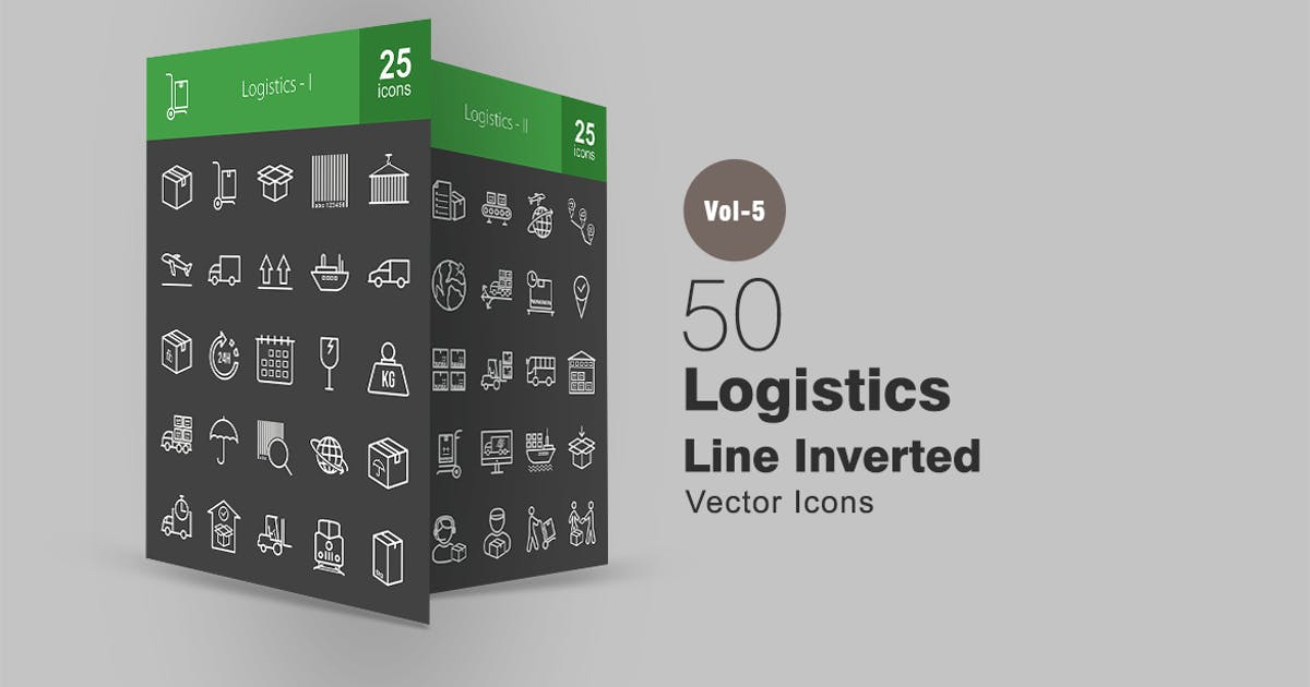 Download 50 Logistics Line Inverted Icons by IconBunny