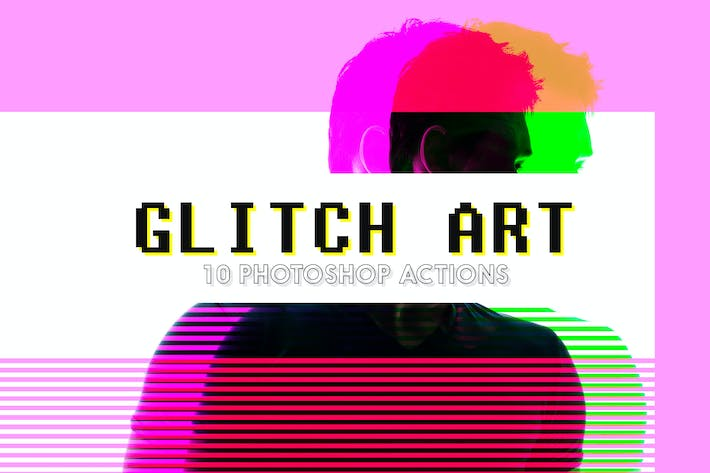 Thumbnail for 10 Glitch Art Photoshop Actions