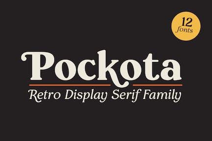 Pockota  |  Retro Display Serif Family