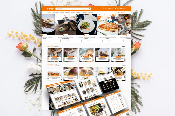 Thumbnail for Tasty Food - Recipes & Food Blog WordPress Theme
