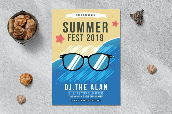Thumbnail for Summer Festival Flyer Template