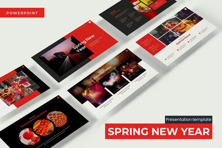 Thumbnail for Spring New Year - Powerpoint Template