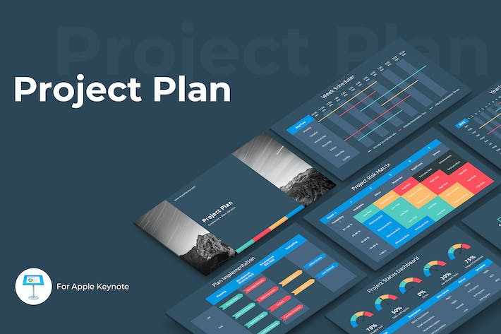 Thumbnail for Project Plan Keynote Template