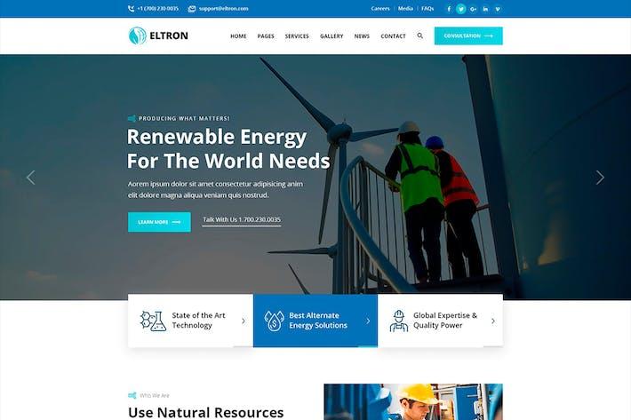 Thumbnail for Eltron - Alternative Energy Figma
