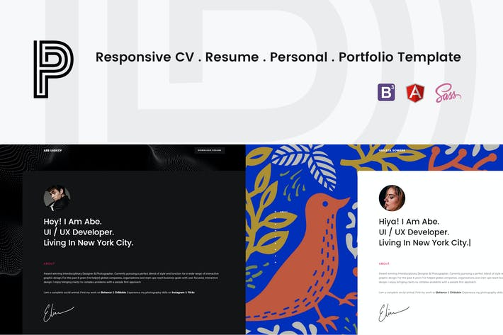 Thumbnail for Penelope - Responsive CV / Resume Template