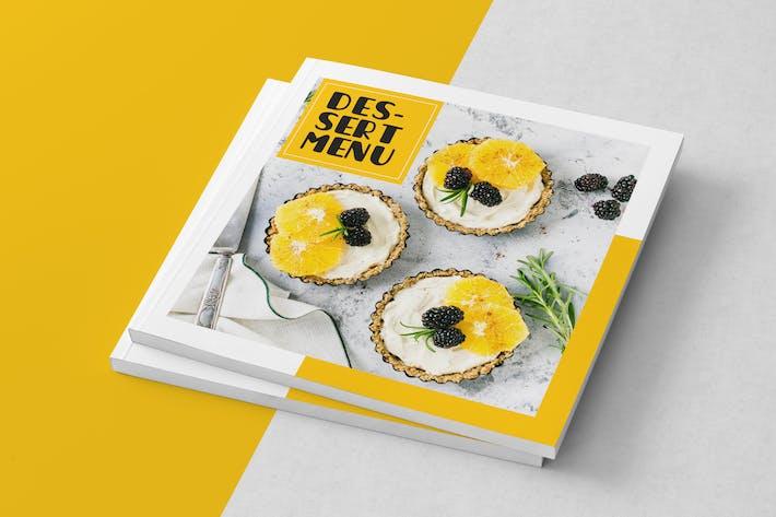 Thumbnail for Square Dessert Menu Template