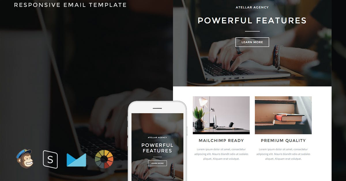 Download Atellar - Responsive Email + StampReady Builder by LEVELII