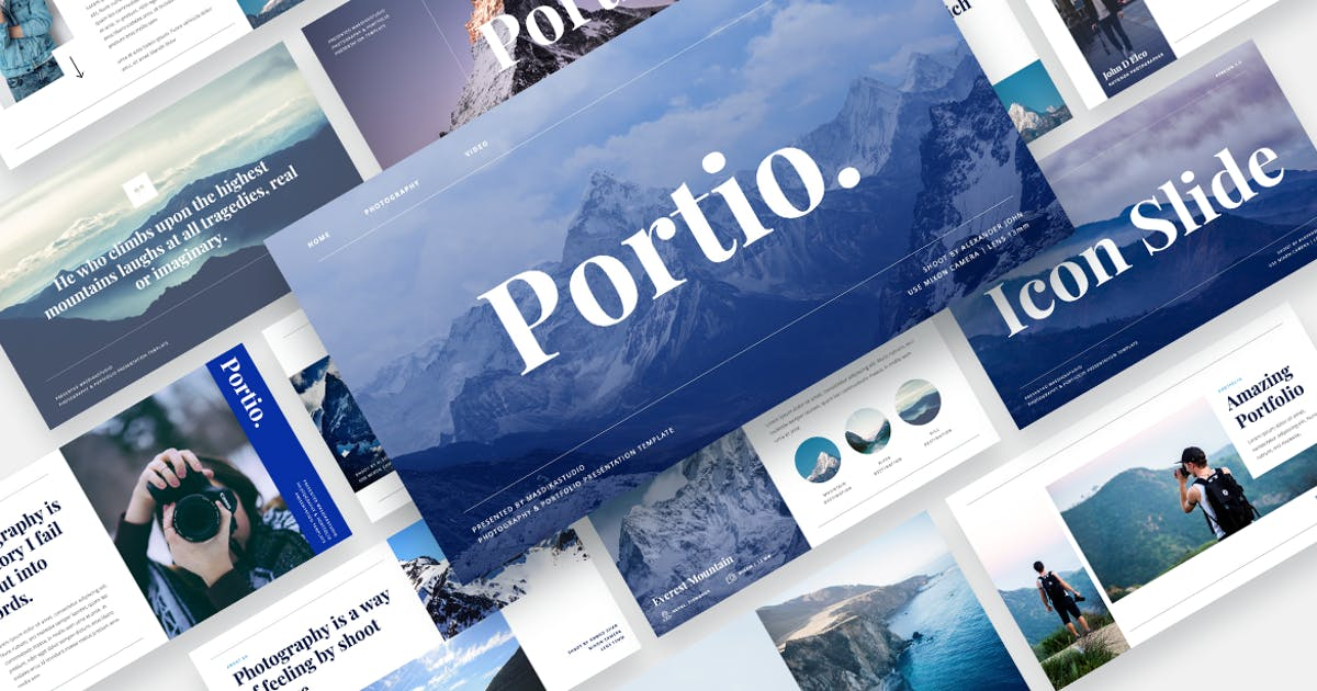 Download Portio - Photography & Portfolio Keynote Template by MasdikaStudio