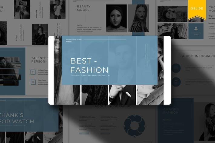 Thumbnail for Лучшая мода | Шаблон слайдов Google