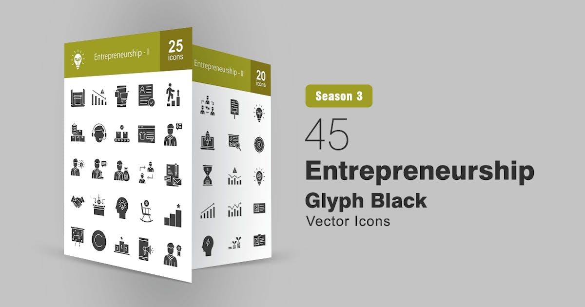 Download 45 Entrepreneurship Glyph Icons by IconBunny