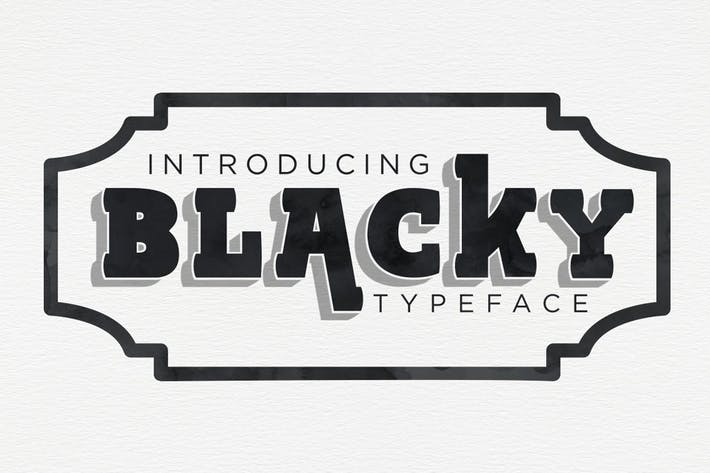 Thumbnail for BLACKY Typeface