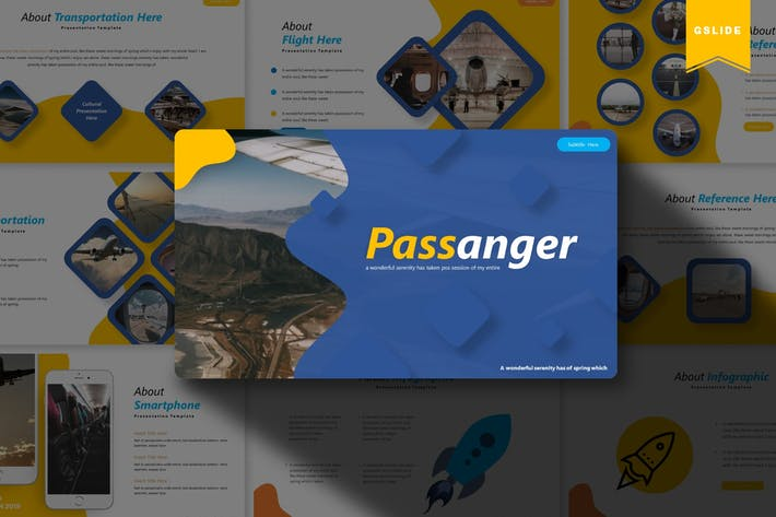 Thumbnail for Passanger | Google Slides Template