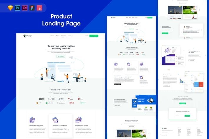 Thumbnail for Lifepage - Landing Page Template