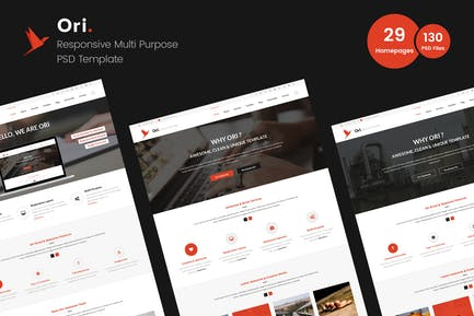 Ori – Multi-purpose Business PSD Template