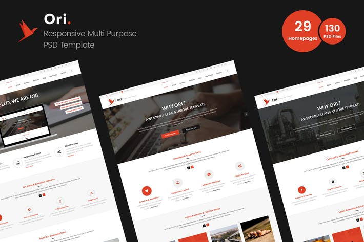 Thumbnail for Ori – Multi-purpose Business PSD Template
