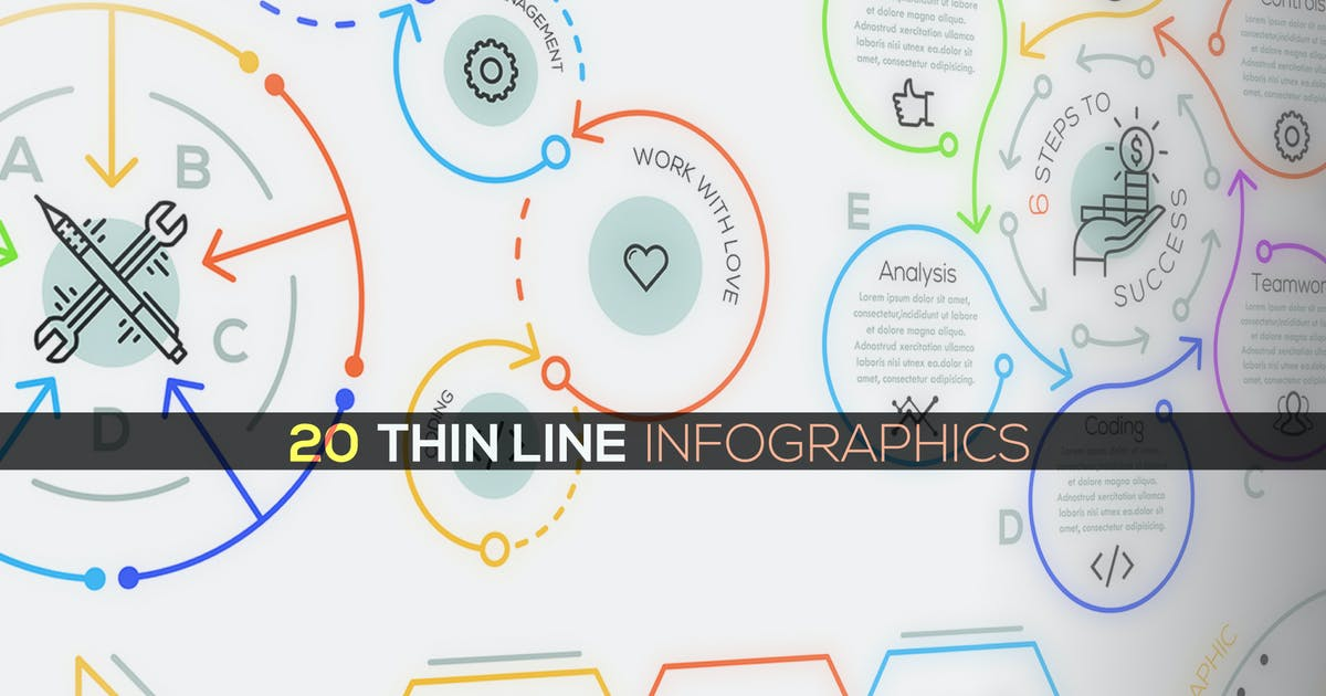 Download 20 Thin Line Infographics by Andrew_Kras