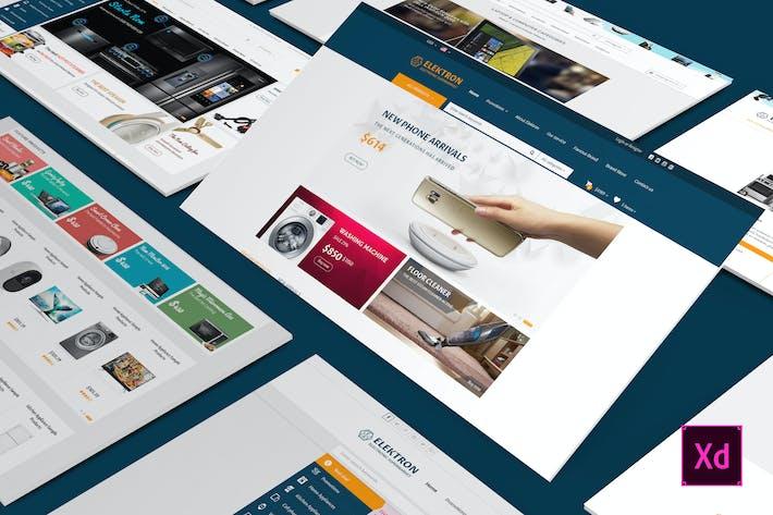 Thumbnail for Elektro - Elektronik Adobe XD Vorlage