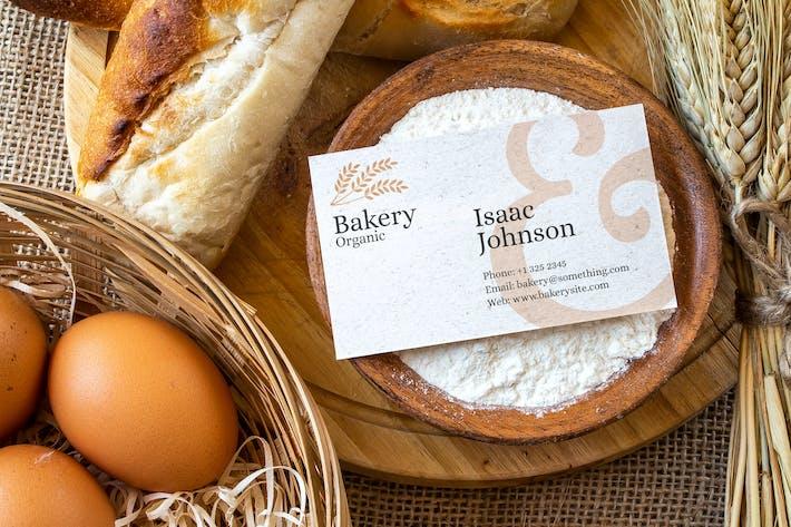 Thumbnail for Bakery Business Card Mockup