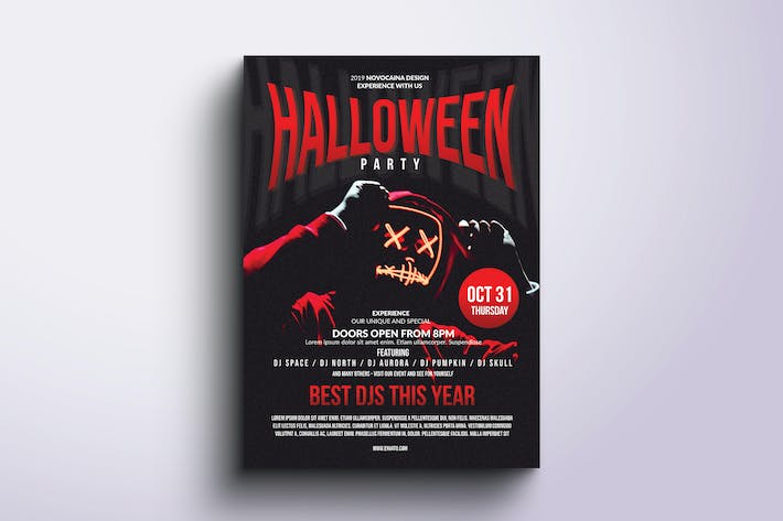 Thumbnail for Halloween Party Poster & Flyer v4