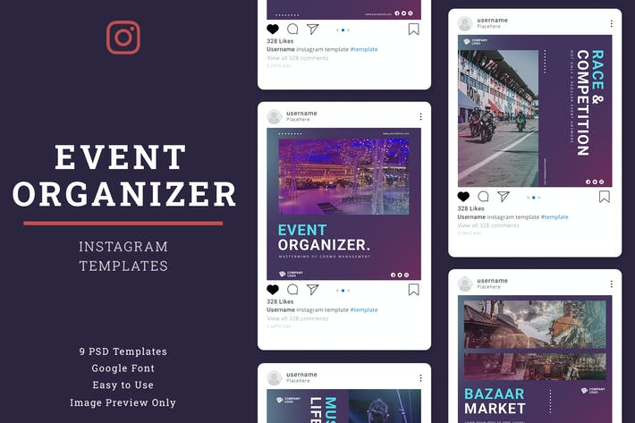 Thumbnail for Event Organizer Instagram Post Template