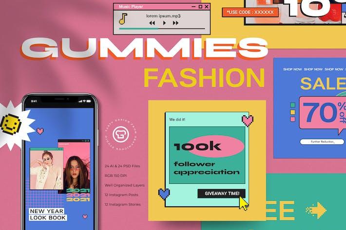 Thumbnail for Gummies Fashion Instagram Set