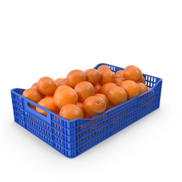 Plastic Crate With Oranges