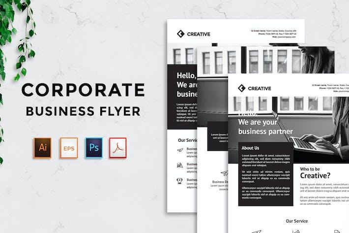 Flyer für Unternehmens- geschäfte - Rantautemp