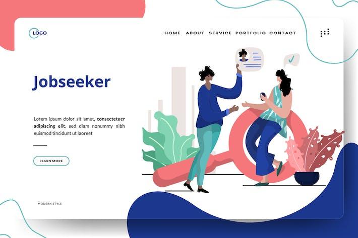 Thumbnail for Job seeker Illustration