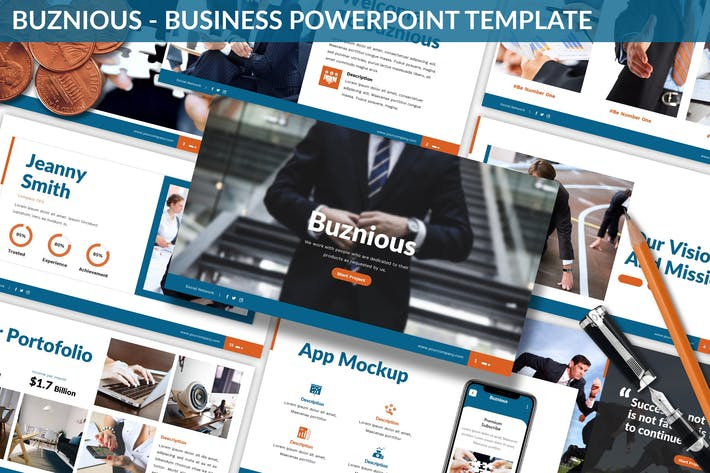 Thumbnail for Buznious - Business Powerpoint Template