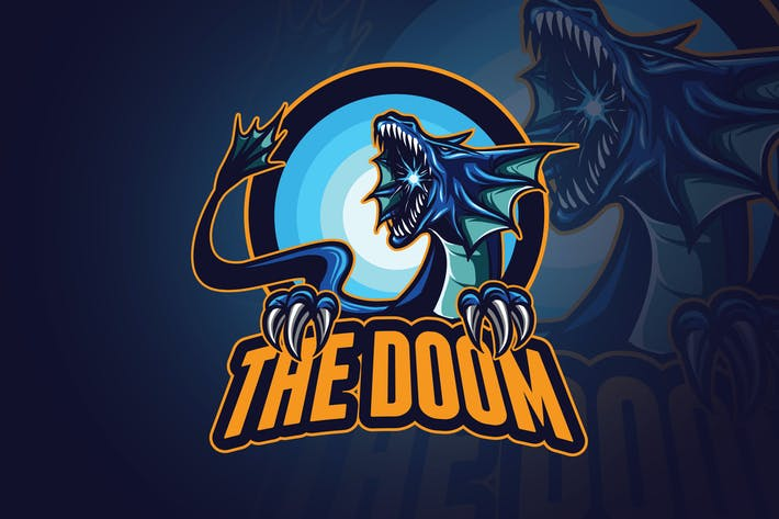 Thumbnail for Blue Dragon Esports Mascot Logo