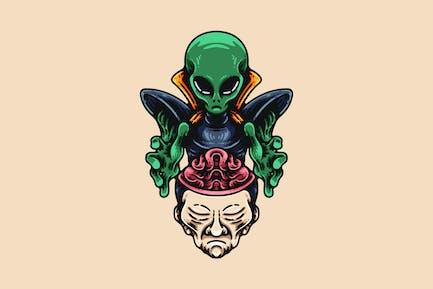 Alien Gehirnwäsche Mensch