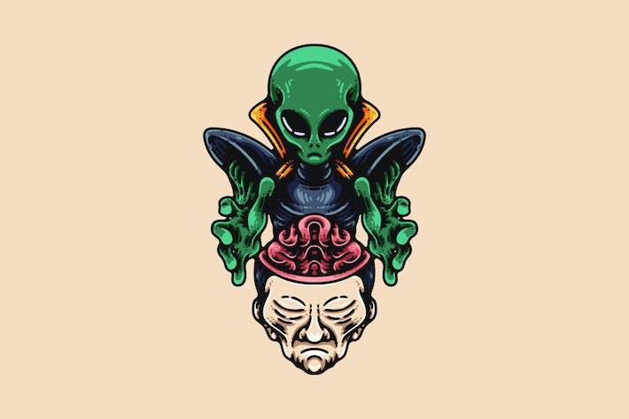 Alien Brainwashing Human