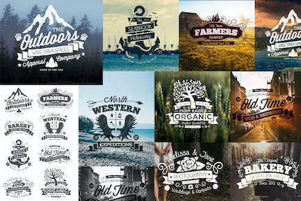 Hand Drawn Vintage Logos and Labels