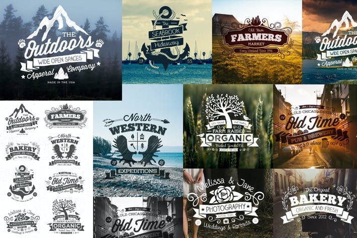 Cover Image For Hand Drawn Vintage Logos and Labels
