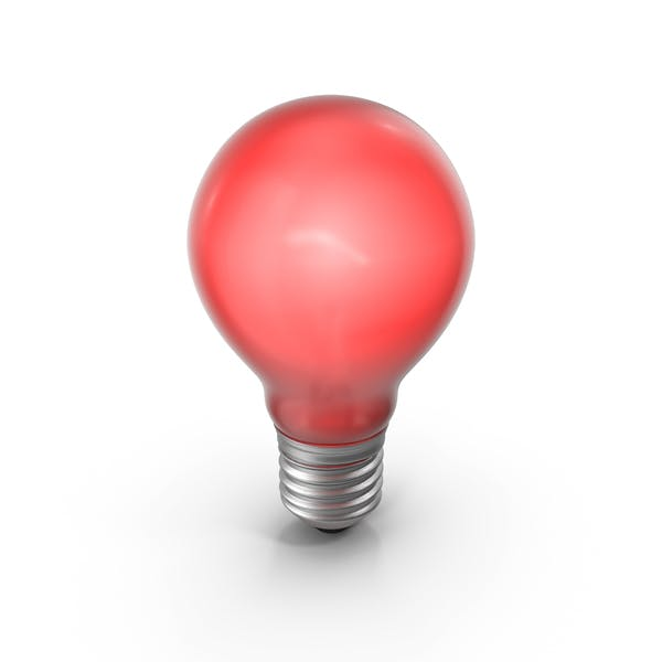Lightbulb Red Glossy Turned On