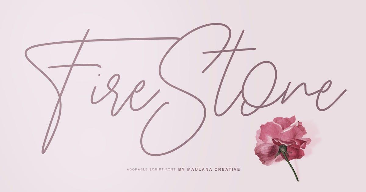Download Fire Stone Signature Font by maulanacreative