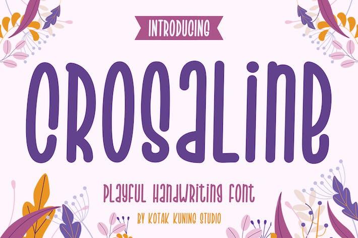 Thumbnail for Crosaline - Fuente de escritura a mano juguetona