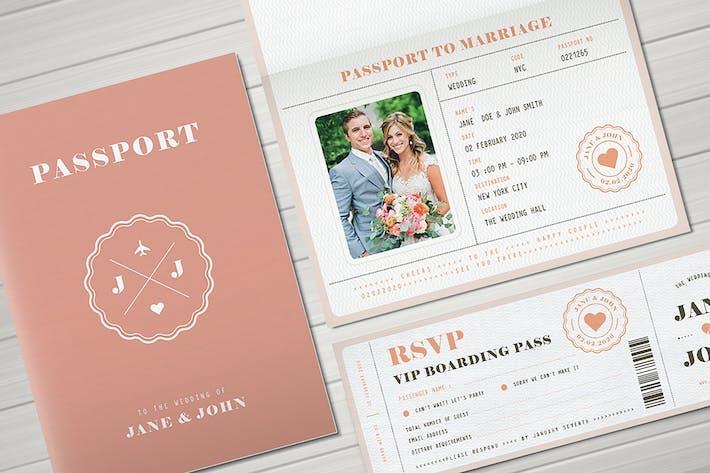 Thumbnail for Passport Wedding Invitation