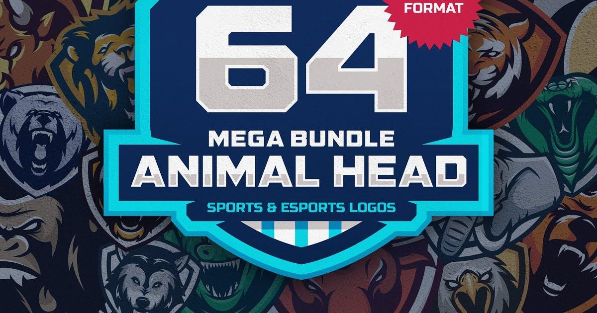 Download 64 ANIMAL HEAD SPORT MASCOT DESIGNS by slabdsgn