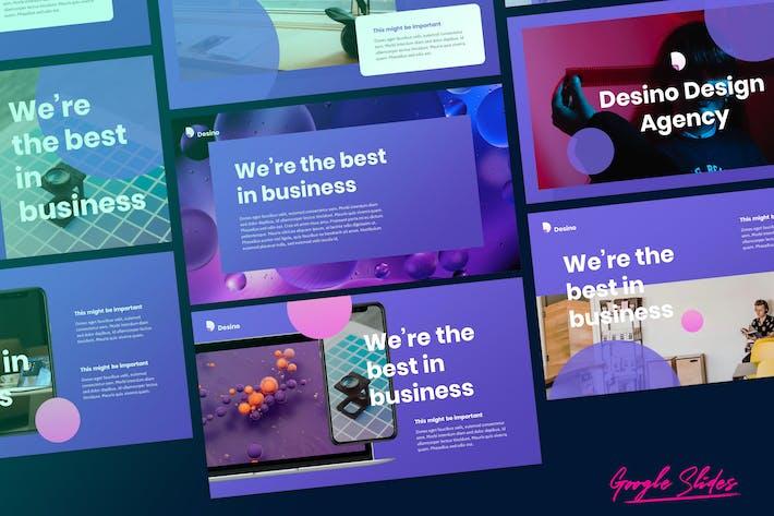 Thumbnail for Desino - креативное цифровое агентство Google слайды
