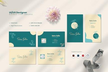 UI & UX Designer Visitenkarte