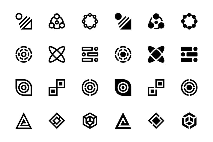 Thumbnail for 34 Abstract Icons