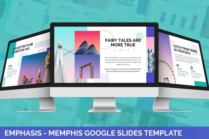 Emphasis - Memphis Google Slides Template