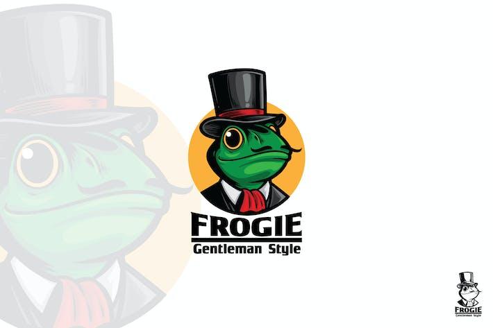 Gentleman Frog Logo Mascot